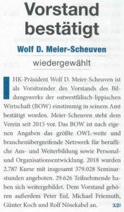 BOW-Vorstand bestätigt