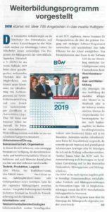 BOW-Programm 2/2019 vorgestellt
